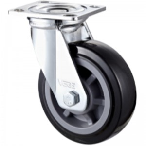 Heavy Duty - Chrome plated housing with Black TPE wheel