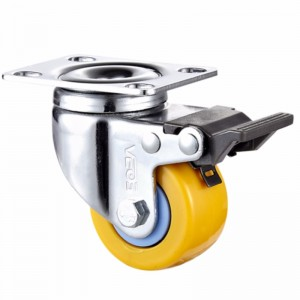 Light Duty + - Chrome plated housing with Orange TPE wheel