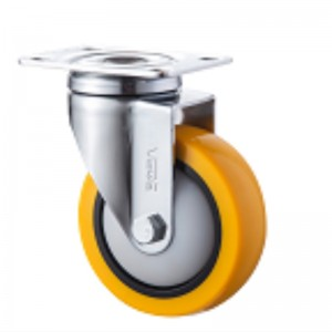 Medium Duty - Chrome plated housing with Orange TPE wheel