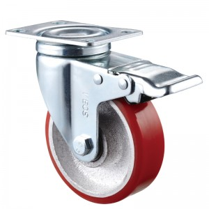 Medium Duty - Chrome plated housing with red3 TPE wheel