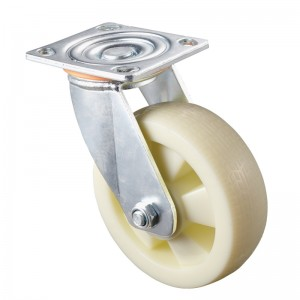 Heavy Duty - Chrome plated housing with white TPE wheel