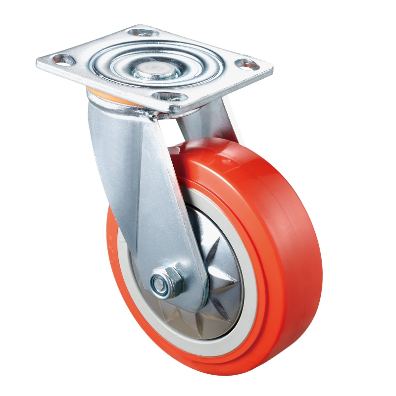 Heavy Duty - Chrome plated housing with orange TPE wheel