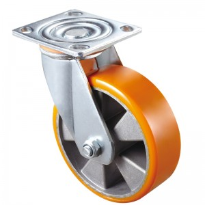 Heavy Duty - Chrome plated housing with yellow TPE wheel