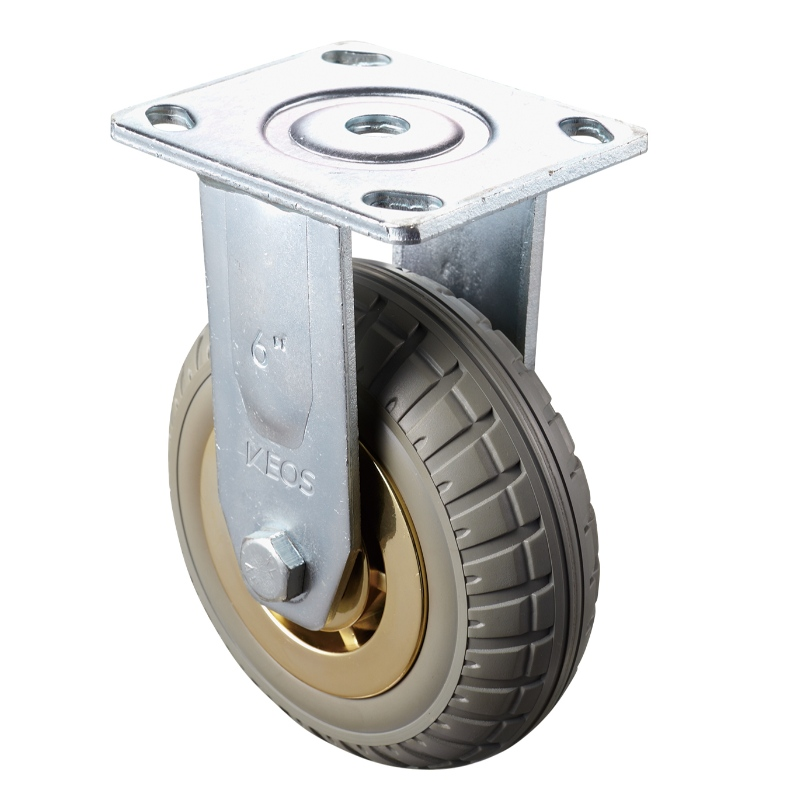 Heavy Duty - Chrome plated housing with brown2 TPE wheel
