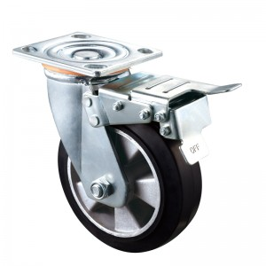 Heavy Duty - Chrome plated housing with Black2 TPE wheel
