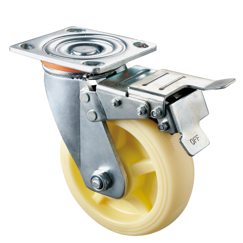 Heavy Duty - Chrome plated housing with white3 TPE wheel