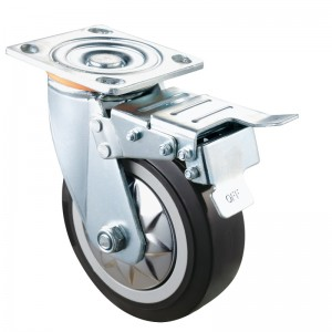 Heavy Duty - Chrome plated housing with Black4 TPE wheel